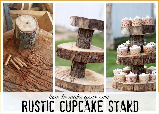 Rustic Wood Cupcake Stand Avec Images Mariage Rustique