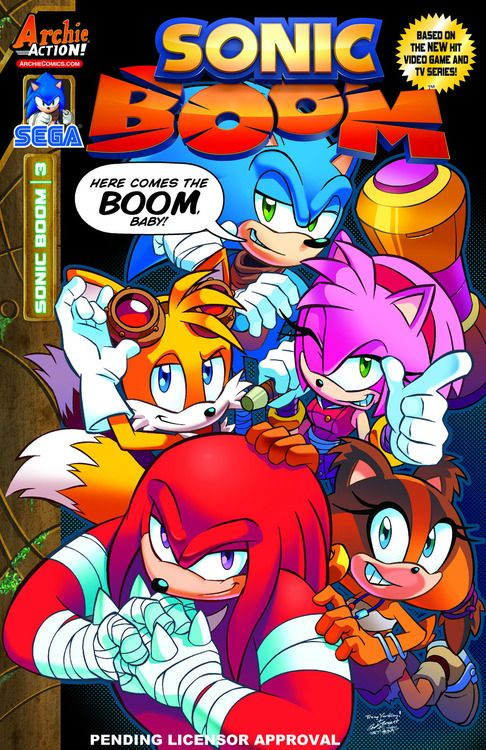 """ ARE YOU READY FOR THE BOOM?! The NEW ONGOING SONIC COMIC BOOK SERIES from Archie Comics continues its frantic fun with Sonic Boom #3: Hammer Spaced! Amy's most precious possession, her piko hammer,..."