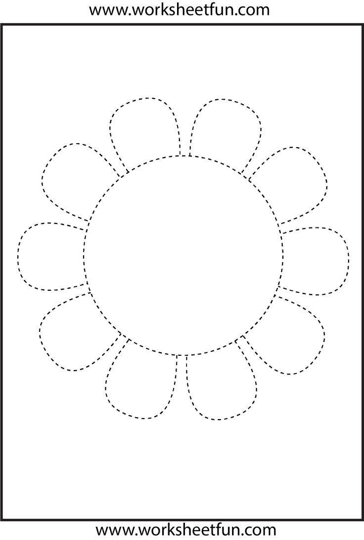Flower Trace Spataru Claudia Pinterest Flower Worksheets And