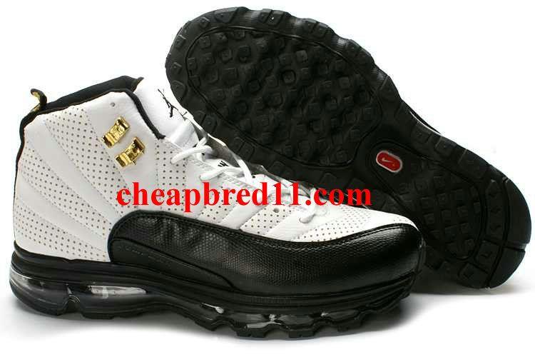 su Dios Superficie lunar  Air Jordan 12 + Air Max Fusion White Black-Taxi- Black Sole | Air jordans, Nike  air max jordan, Mens nike air