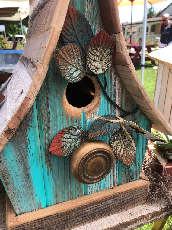 Best Turquoise Curved Roof Birdhouse Bird Houses Roof Shapes 400 x 300