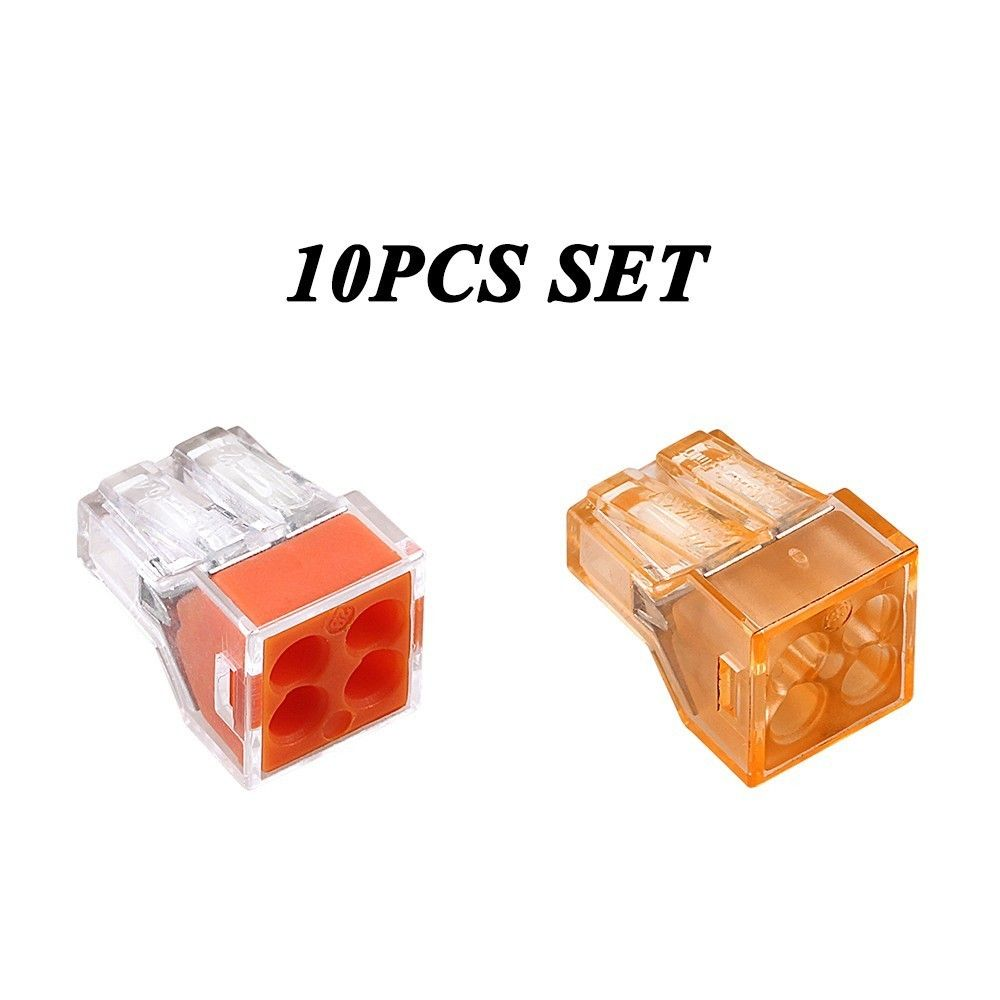10pcs Pct 104 Wago 773 Push Wire Wiring Connector For Junction Block