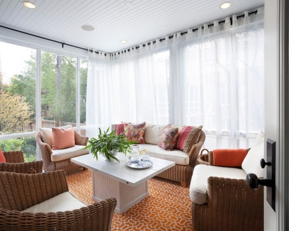 Sunroom Window Treatment Ideas Pictures Remodel And Decor Sunroom