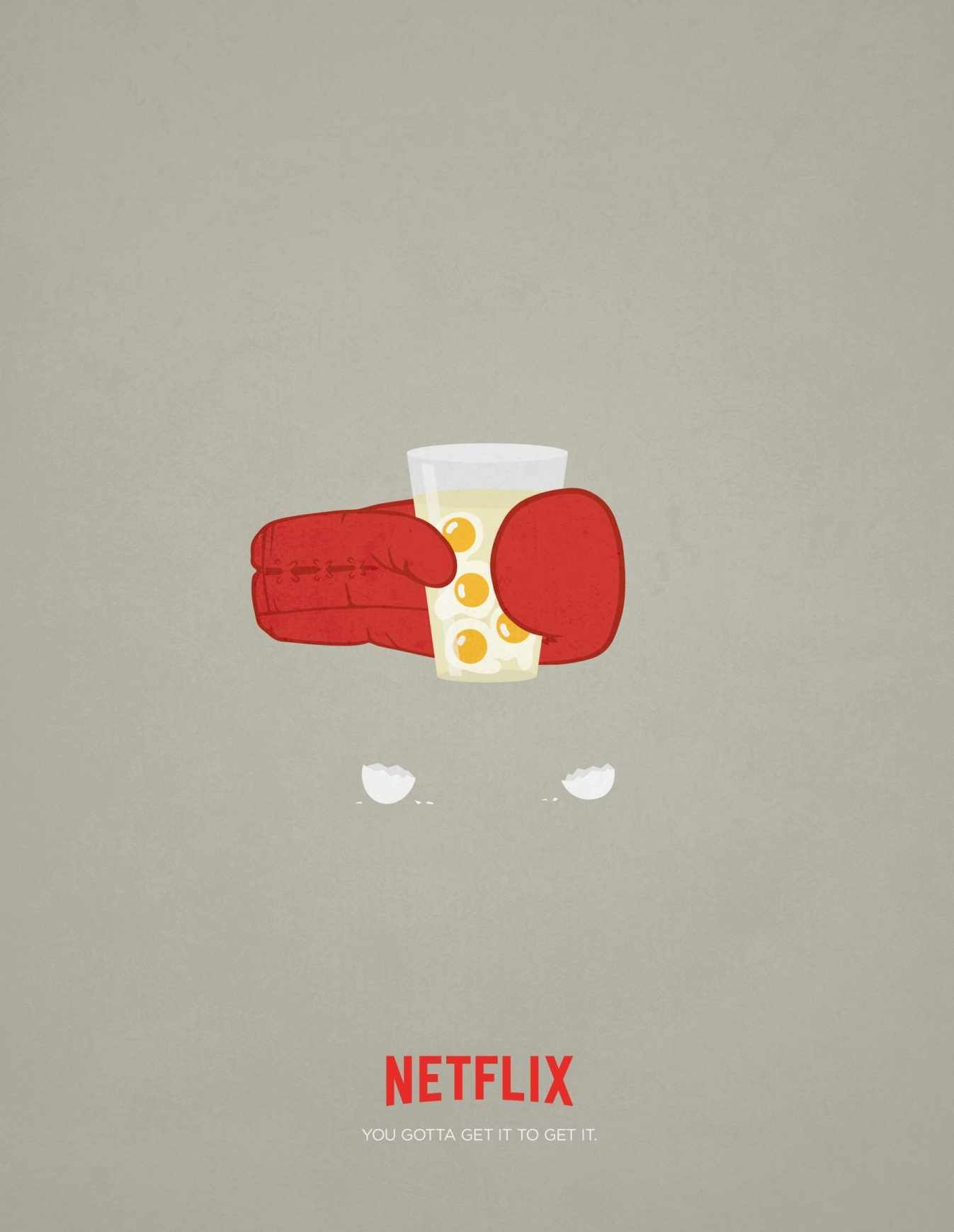 Netflix print ad. You gotta get it to get it. #PrintAd #Advertising ...