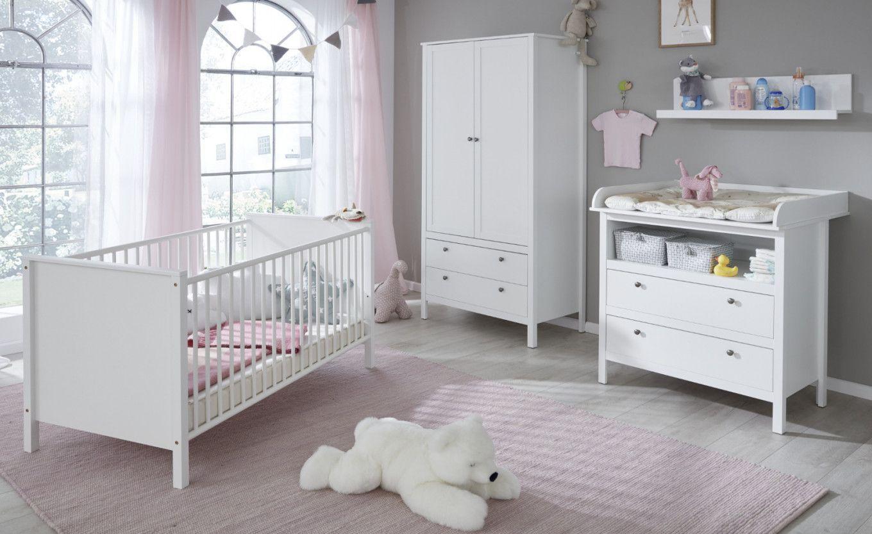Baby Room Ole Komplettset 4 Teilig Weiss Mit Wickeltisch Babybett