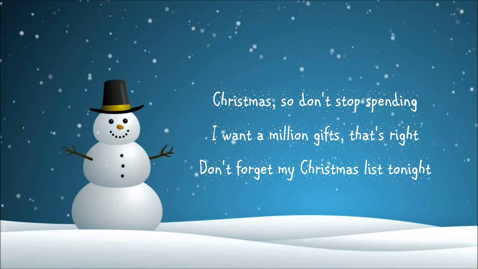 simple plan my christmas list lyrics - Simple Plan Christmas Song