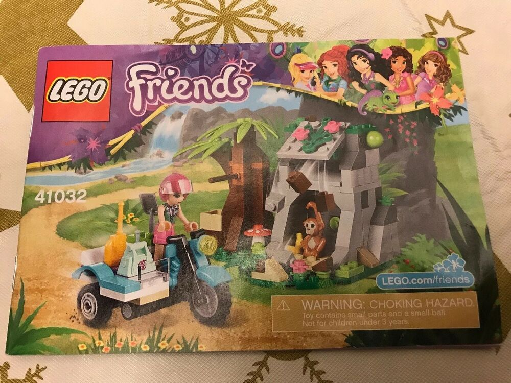 Lego Friends First Aid Jungle Bike Set 41032 Complete With