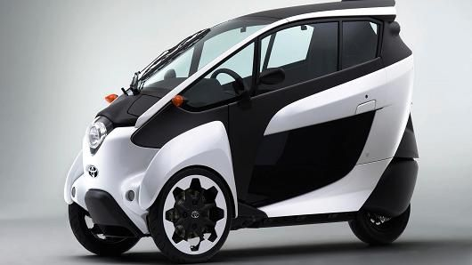 I Road Toyota Debuts Rear Steering All Electric 3 Wheeler In 2020 Electric Car Concept Three Wheeled Car Toyota