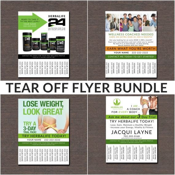 Herbalife Tear Off Flyer Bundle By Wackyjacquisdesigns On Etsy I