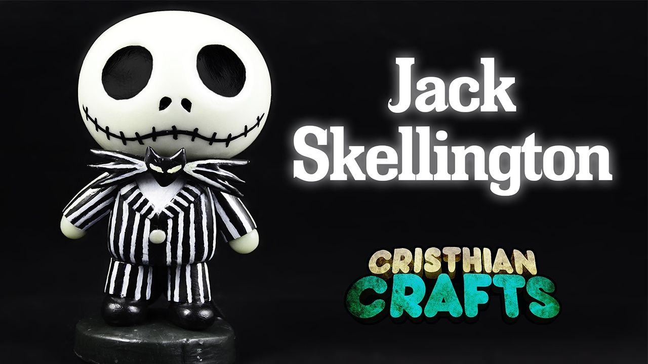 DIY JACK SKELLINGTON Cold Porcelain / Polymer Clay Tutorial | The ...