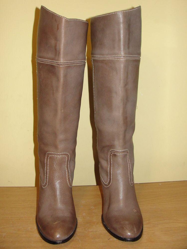 LUCKY BRAND Damenschuhe Schuhes Braun Braun Braun Leder LK ELENA Western Tall Stiefel ... 194048