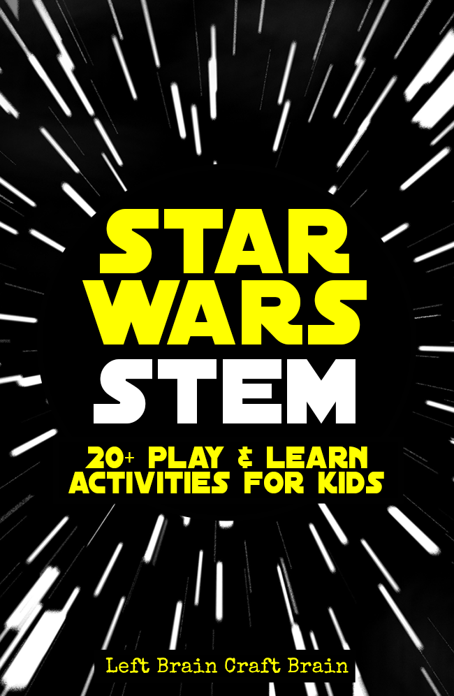 Star Wars STEM Learning Activities for Kids is part of Kids Crafts Activities Star Wars - Kids can play & learn with their favorite characters with these Star Wars STEM activities