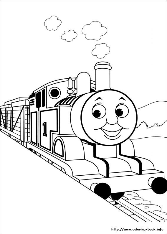 Thomas and Friends coloring picture | Grandkids | Pinterest | Tren ...
