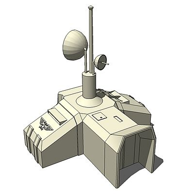 Space Marine Radar Building For Use Rts Games Spacemarineradarsu5 Jpg 400 400 Marine Radar Space Marine Real Time Strategy Game