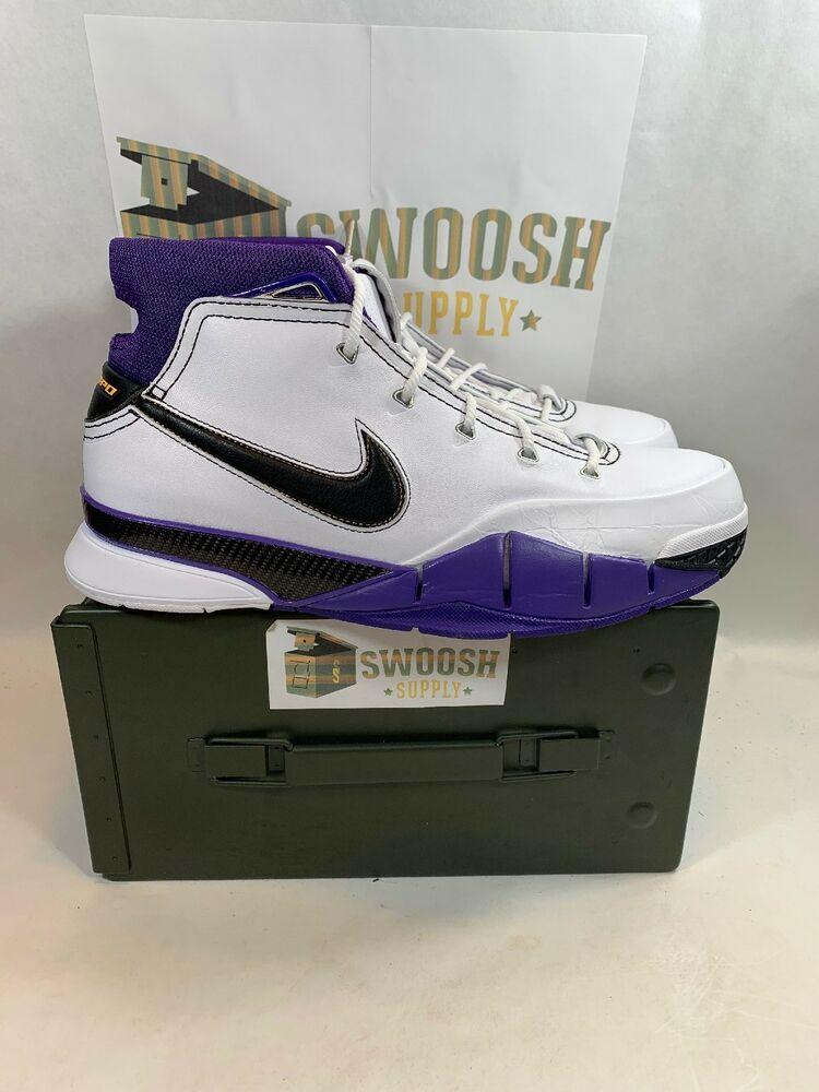 9b6fb1d532f Nike Kobe 1 Protro 81 Points White Purple Black Size 11 AQ2728-105  Nike   BasketballShoes