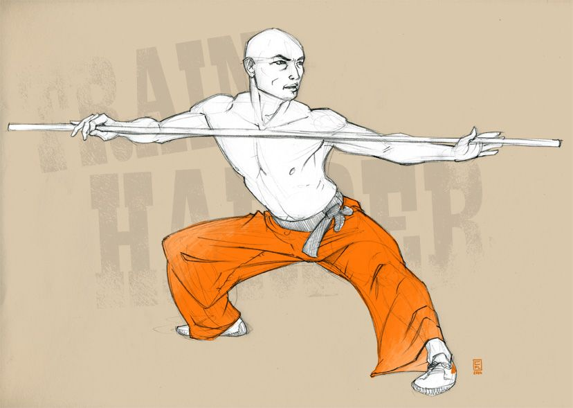 shaolin draw shaolin monk sketches drawings et art