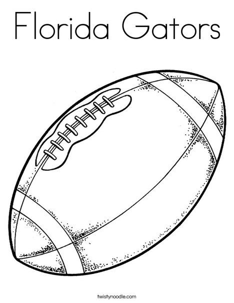 Florida Gators Coloring Page Football Coloring Pages Sports