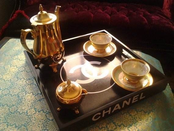 great gift. vanity tray of all purposes. chanel by caracells