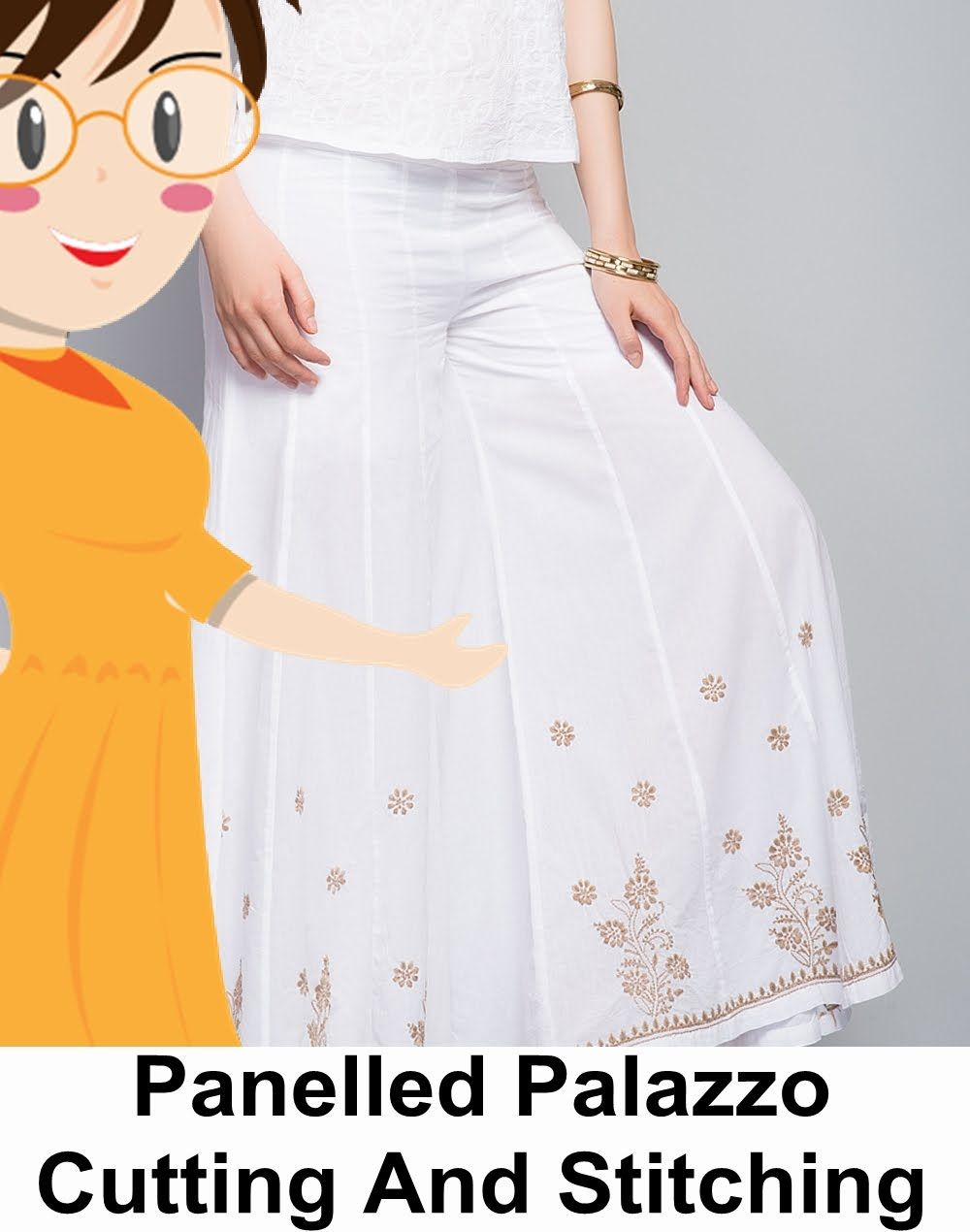 Panelled Palazzo Cutting And Stitching | DIY - Tailoring With Usha ...