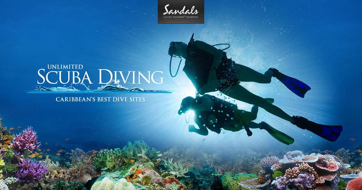FREE TRAINING And DIVES !! Sandals Resorts Offers One Of