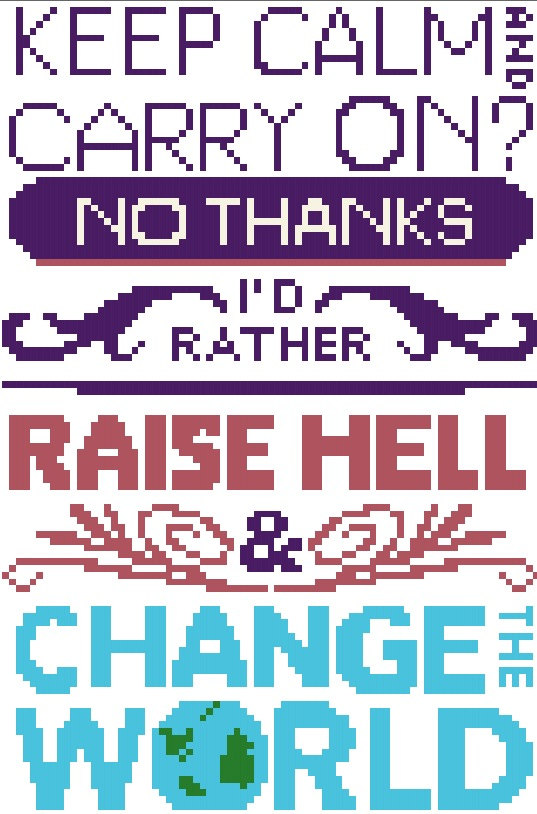 Keep calm and raise hell cross stitch pattern instant for Keep calm font download