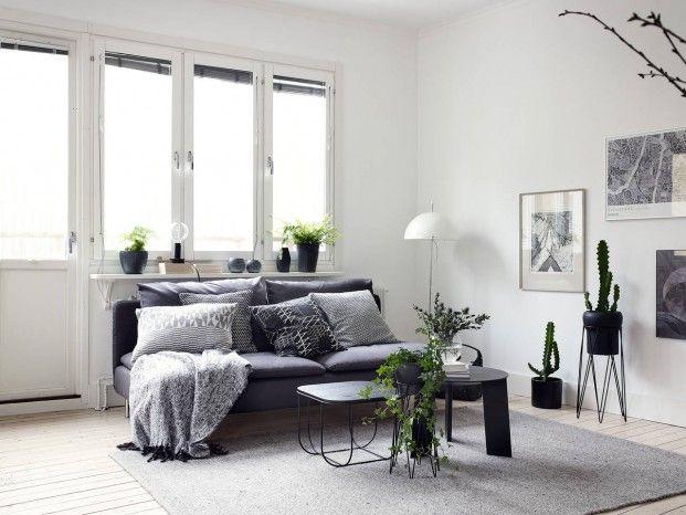 Scandinavisch design op z\'n best: een heerlijk zwart-wit interieur ...