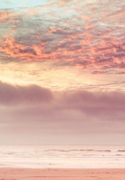 Pink Beach Sunset Iphone Wallpaper