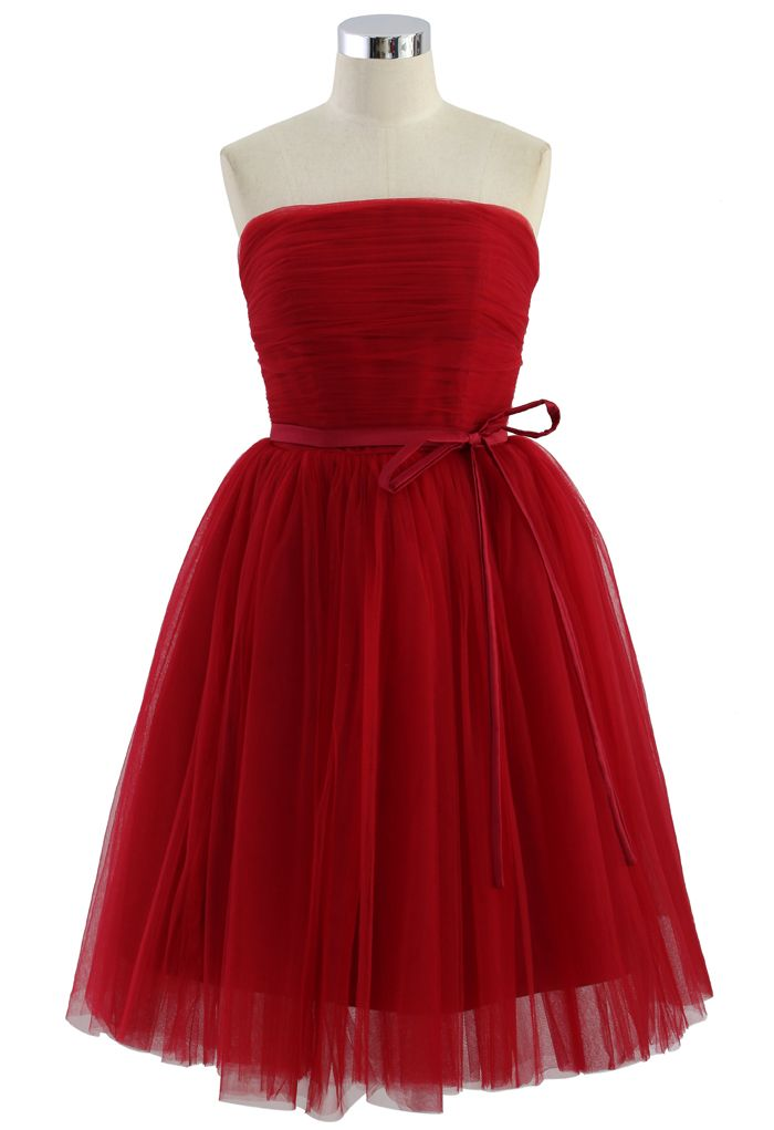 b68fe357d8fa Endless Red Tulle Bustier Mesh Prom Dress » So pretty! Kleider, Tüll  Abiballkleid,