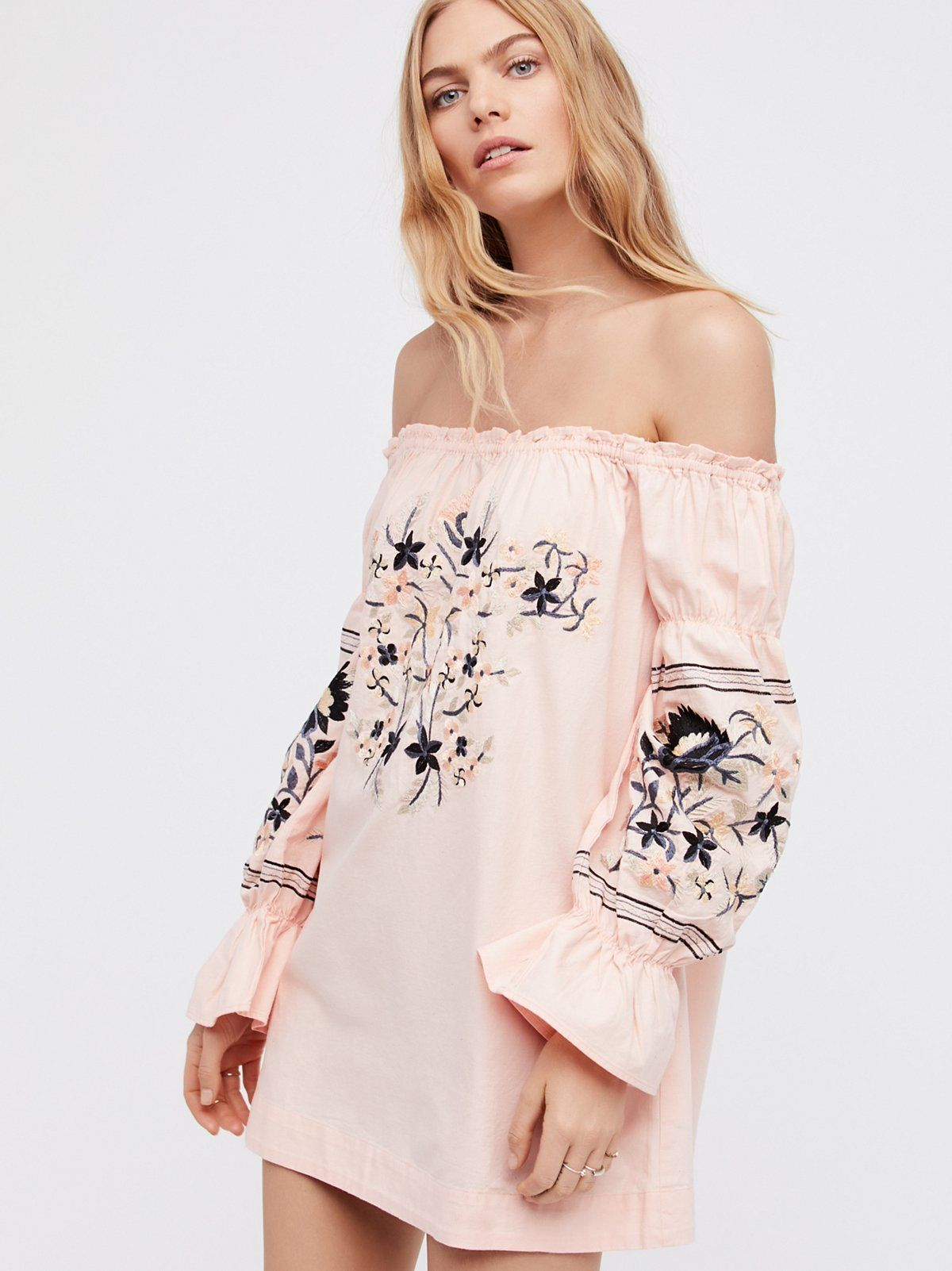 NEW Free People Enchanted Florist Midi Dress Size Large Embroidered