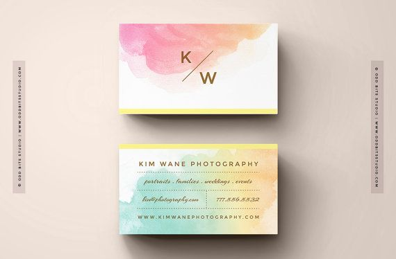 diy business cards - instant download