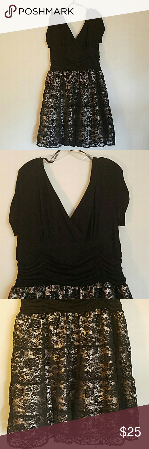 Gorgeous cocktail dress from Dressbarn For those lovely ladies with those curves, let me tell you this is that dress for that special occasion. Worn only once for a banquet dinner. Size 18. No tears, stains or snags. Message me with any questions. Dress Barn Dresses Midi