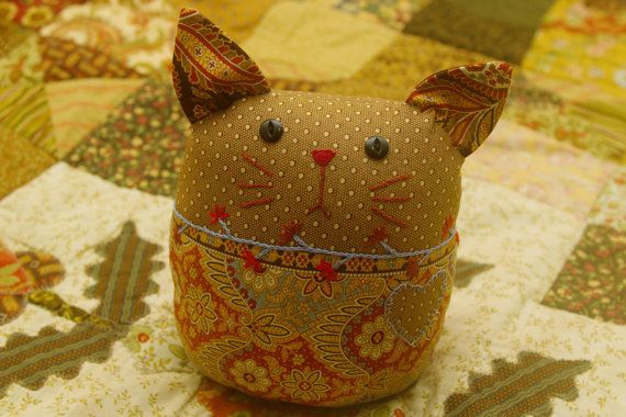 Baby / Kids Handmade Cat Toy by Fabric4Ever on Etsy, $35.00