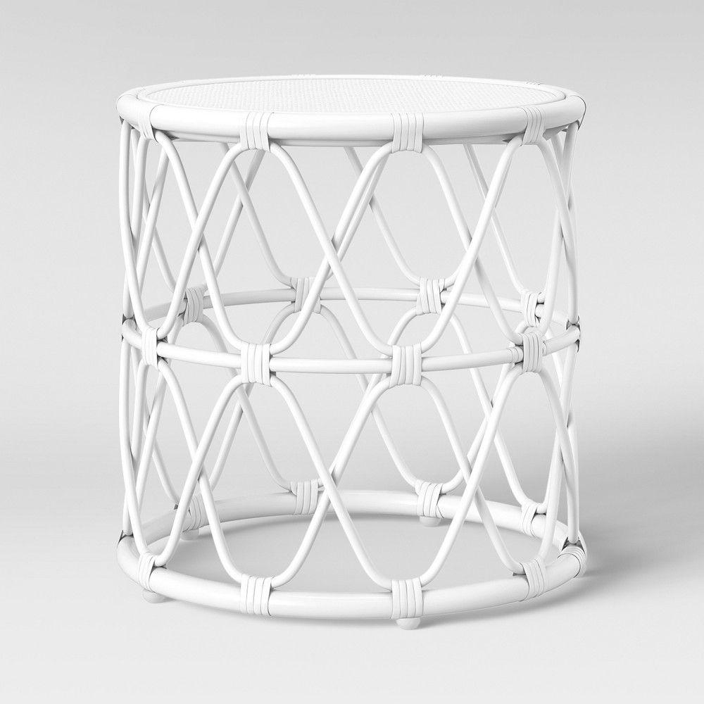 Jewel Round Side Table Black Opalhouse Rattan Table Round Side Table Side Table [ 1000 x 1000 Pixel ]