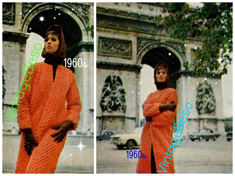 Coat CROCHET PATTERN 60s Retro Paris Coat Crochet Pattern Ladies Instant Download PDF Pattern