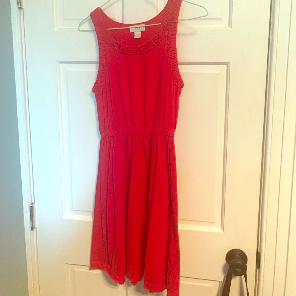 Loft Red Tank Dress Size Sp