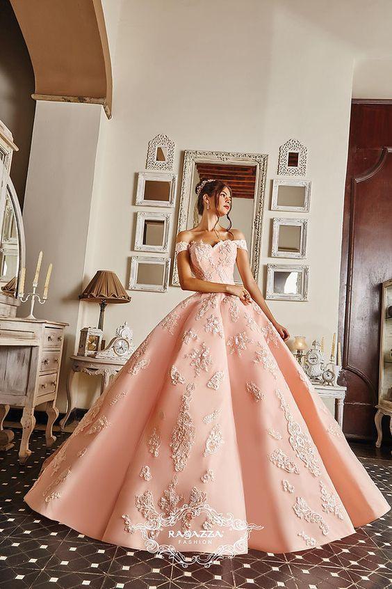 Vestidos De 15 Años Color Rosa Palo Vestidos De Xv Color