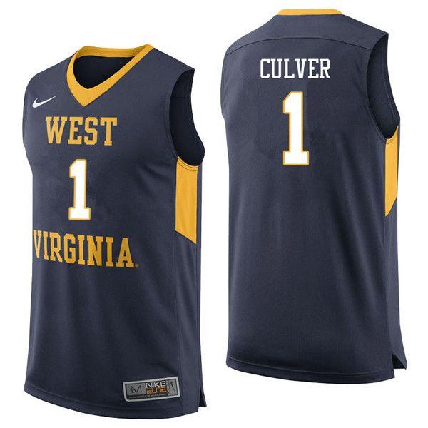 8d049bd87 Men  1 Derek Culver West Virginia Mountaineers College Basketball Jerseys  Sale-Navy