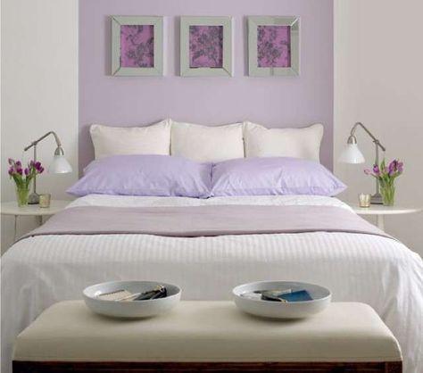 Abbinare due colori in una stanza - Parete camera da letto bianca e ...