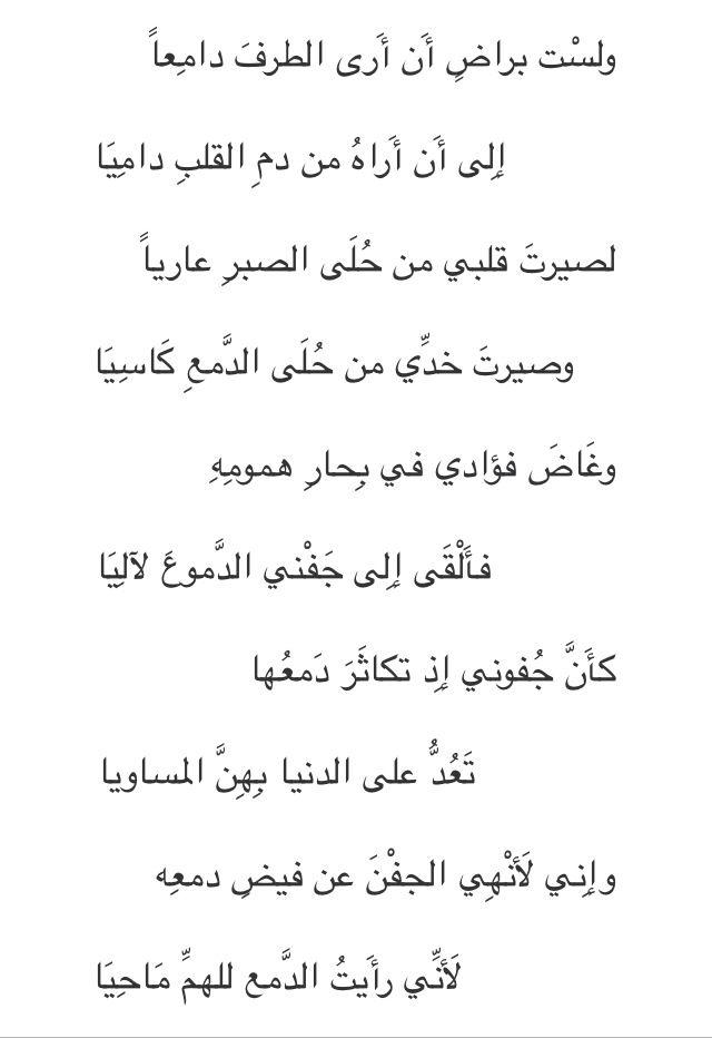 ابن سناء الملك Arabic Poetry Poems Words