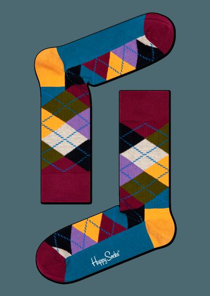 Stylish Colorful Argyle Socks For Men and Women. Buy Happy Socks!