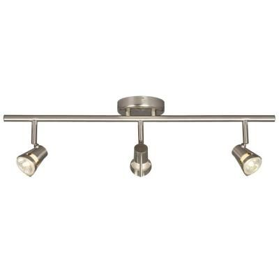Filament Design N 3 Light Brushed Nickel Track Lighting With Directional Heads Cli Xy5247538 The Home Depot