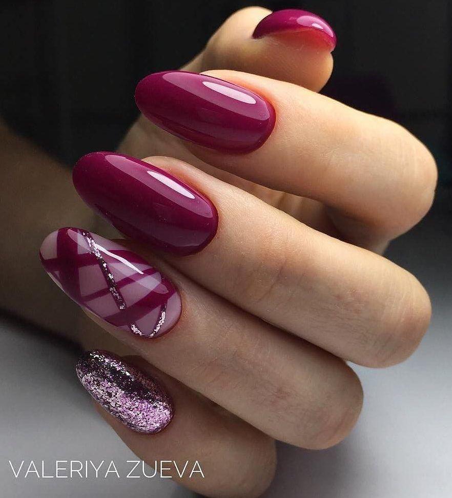 Nail Art #3737 - Best Nail Art Designs Gallery | Maroon nails ...