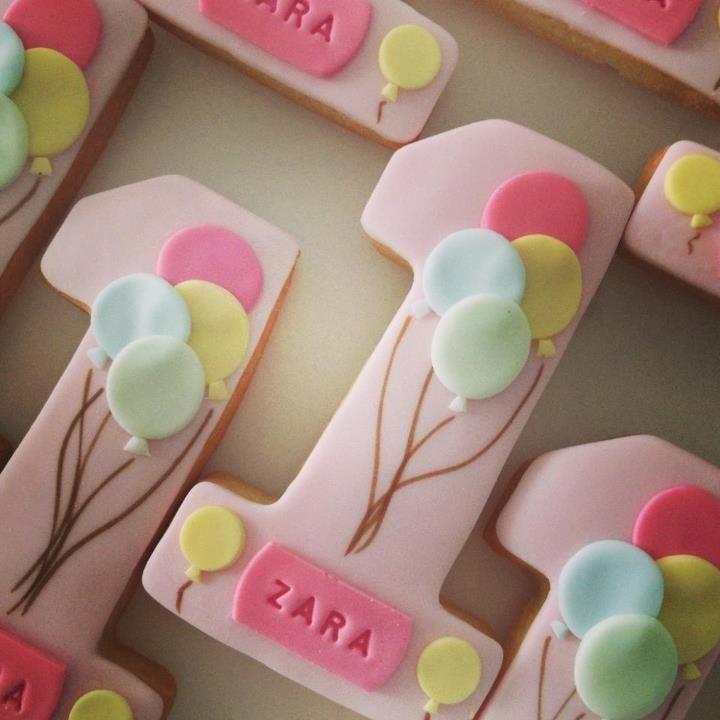 #1 cookie -pink #fondant