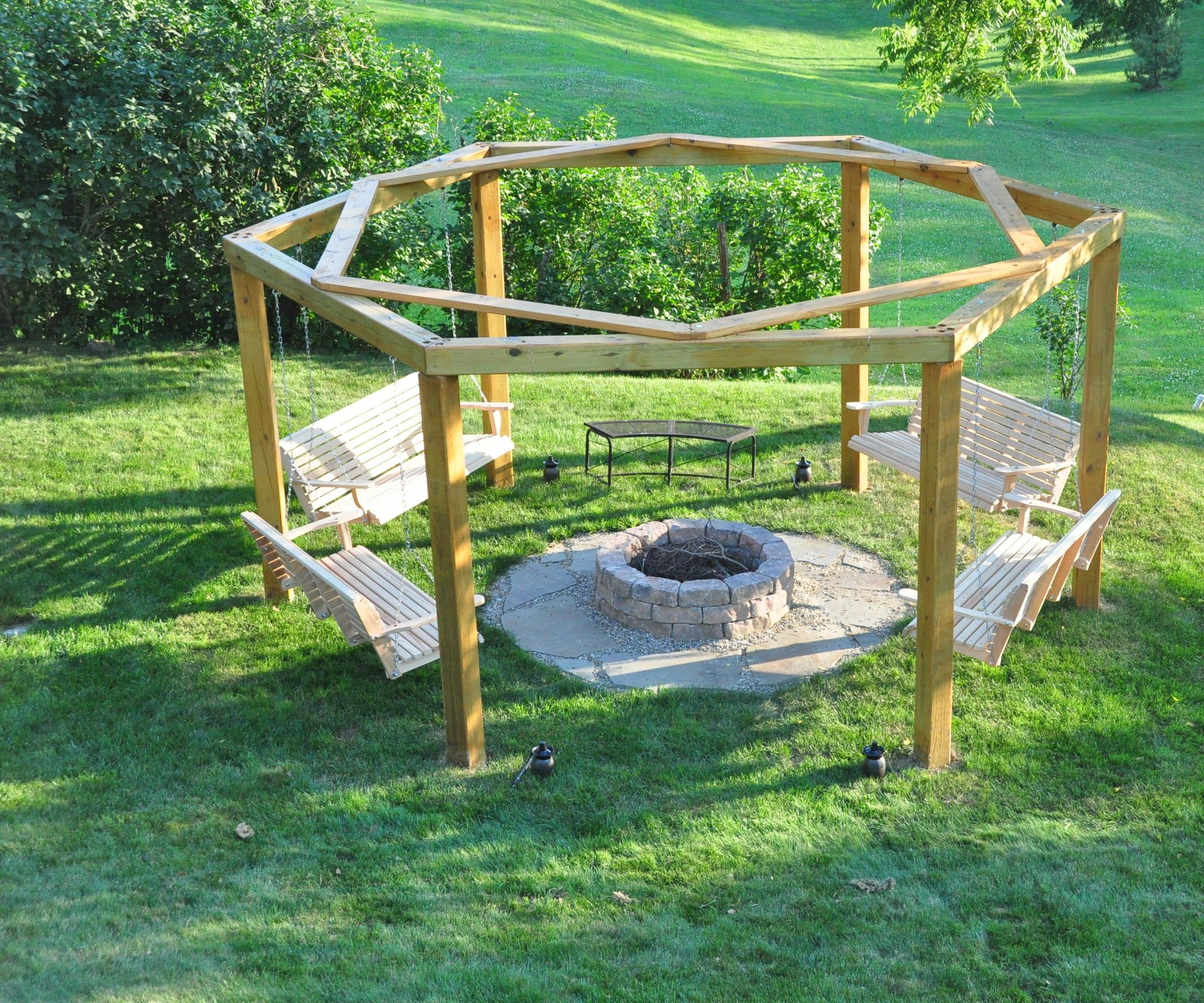 Porch Swing Fire Pit Swings Fire Pits Porch Swings And