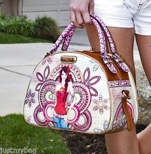 New 'Nicole Lee' MARINA, Multi Compartment Bowler Style Bag w/ Stap