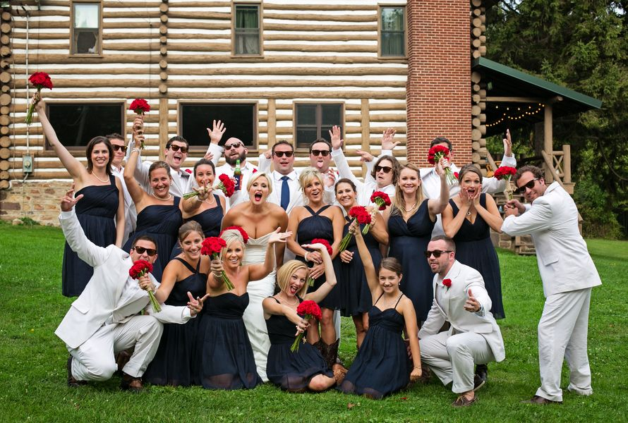 An All American Red, White & Blue Wedding at Mountain Acres Lodge ...