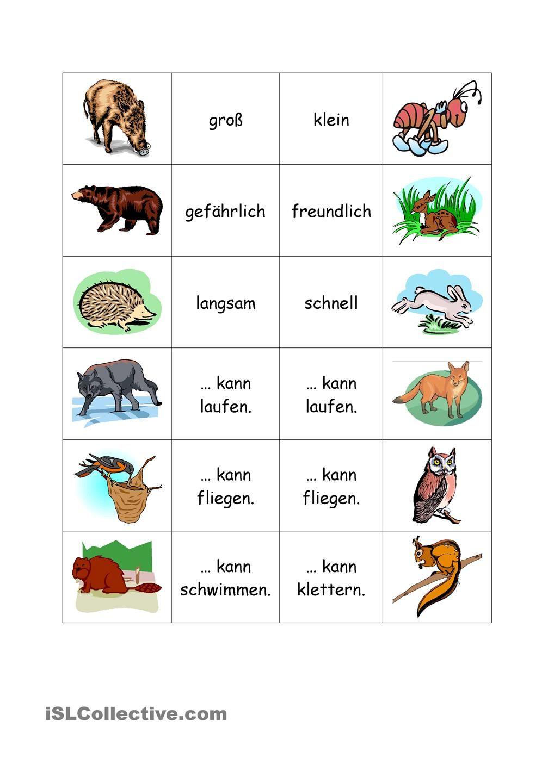 waldtiere waldtiere deutsches alphabet und lehrmittel. Black Bedroom Furniture Sets. Home Design Ideas