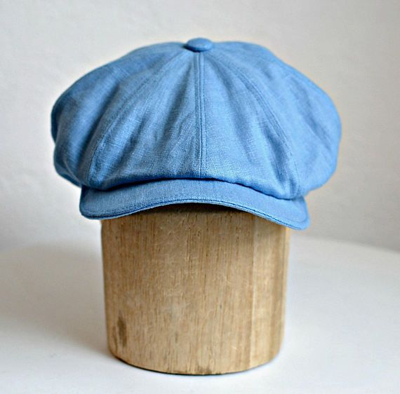 94b6535f71e6c Men s Linen Newsboy Hat Men s Newsboy Cap Blue