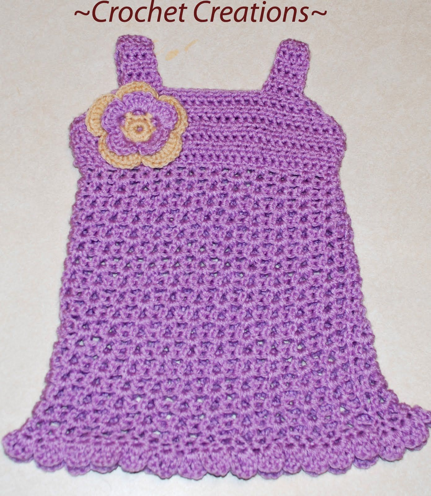 Crochet Creative Creations- Free Patterns and Instructions: Crochet Baby dress