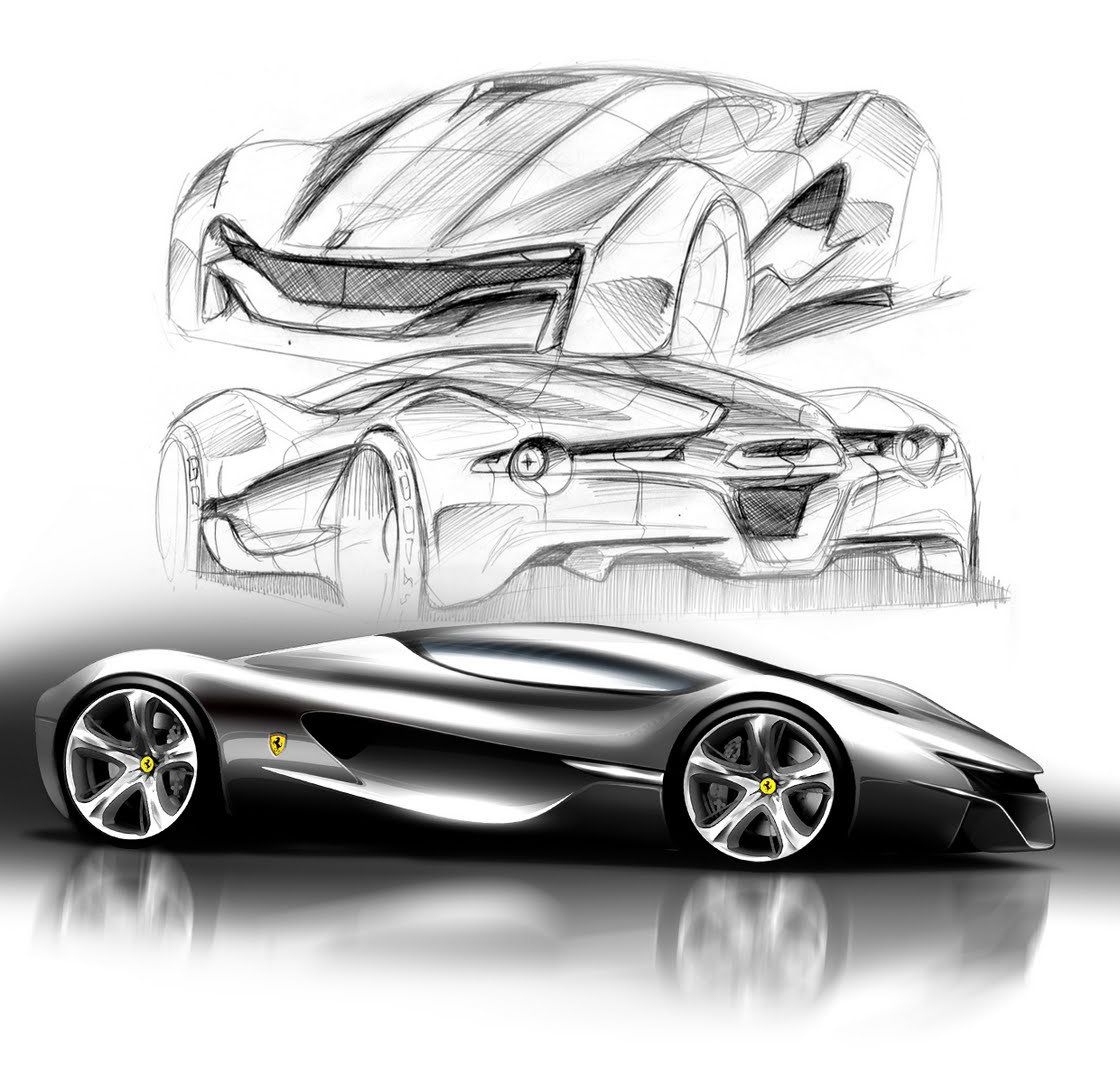 ferrari world design contest 2011 | Ferrari, Sketches and Car sketch